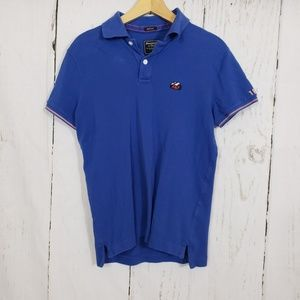 Abercrombie & Fitch XS muscle blue Polo